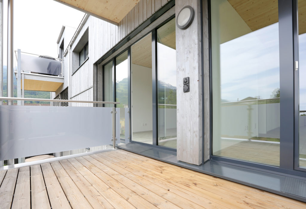 Balkon Kunststoff Aluminium Fenster