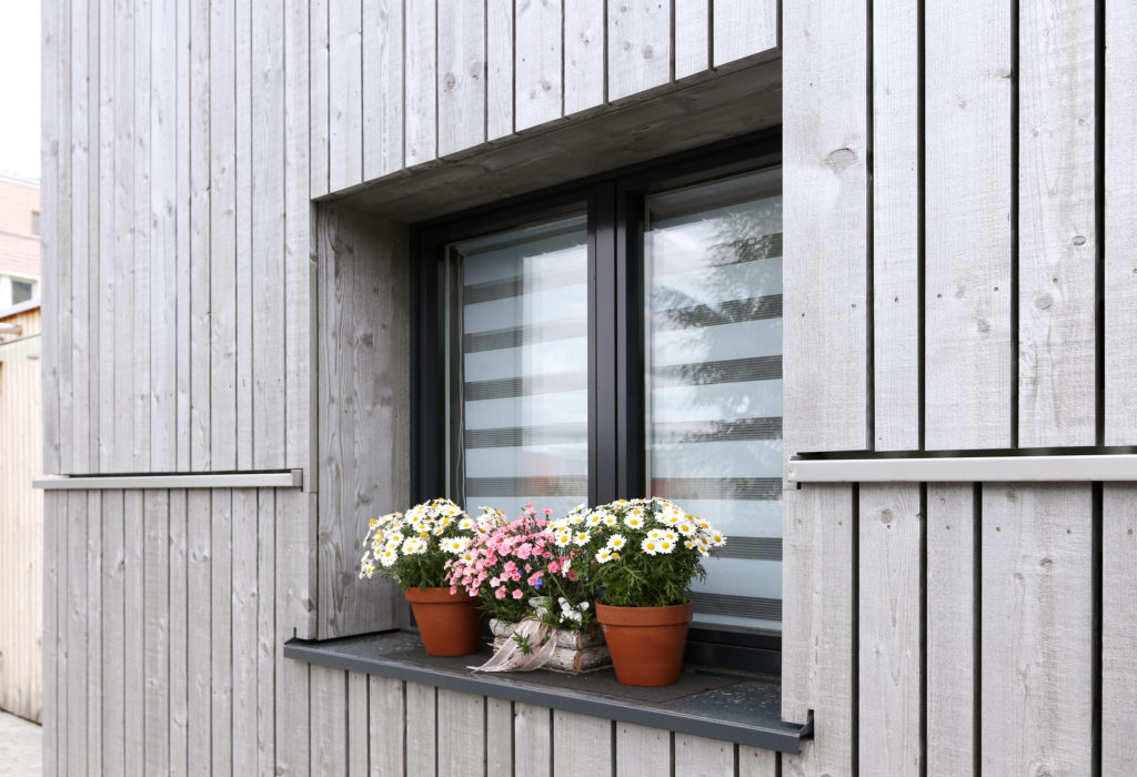 Fassade Kunststoff Aluminium Fenster