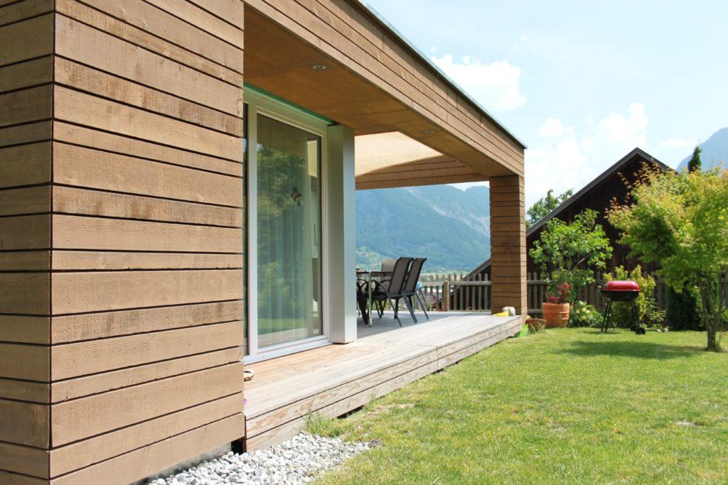 Anbau Einfamilienhaus Holzfassade