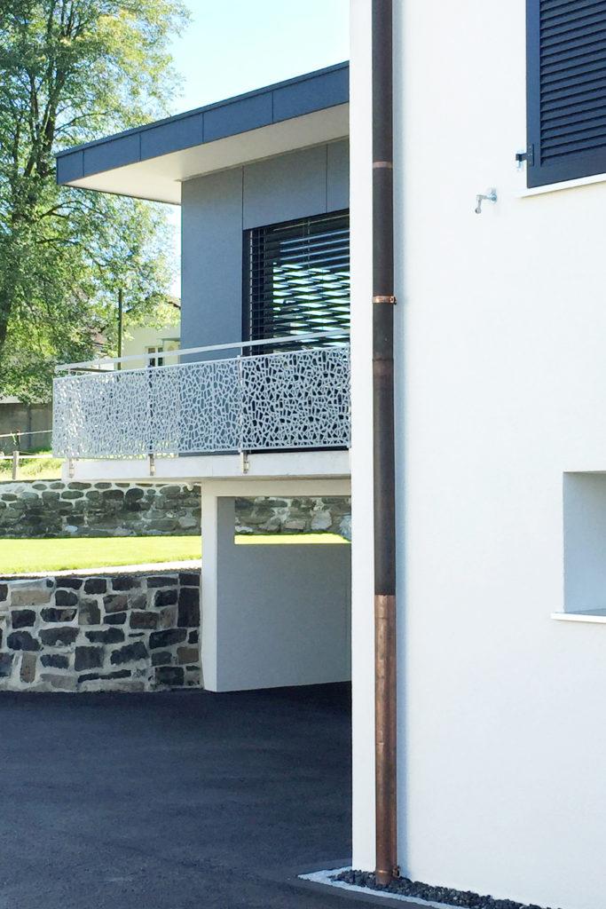 Anbau Scherer Wintergarten Verglaste Aussenwaende Faserzementplatten Flachdach
