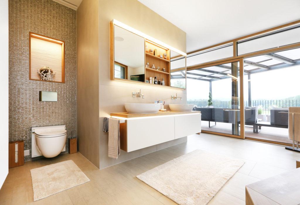 Badezimmer Badmoebel Span Beschichtet Eiche