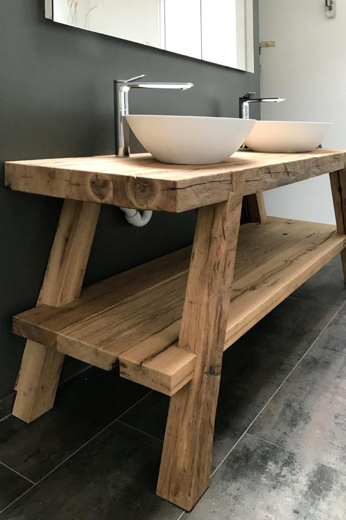 Badmoebel Holz Lavabo