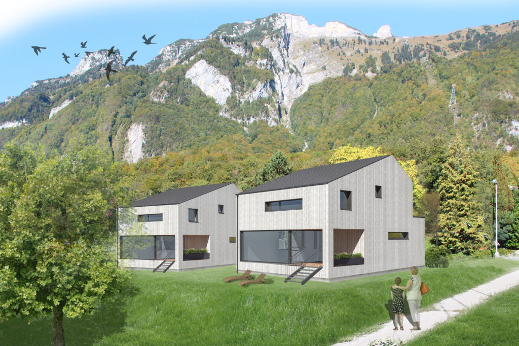 Einfamilienhaus Fruemsen Alpiger Holzbau