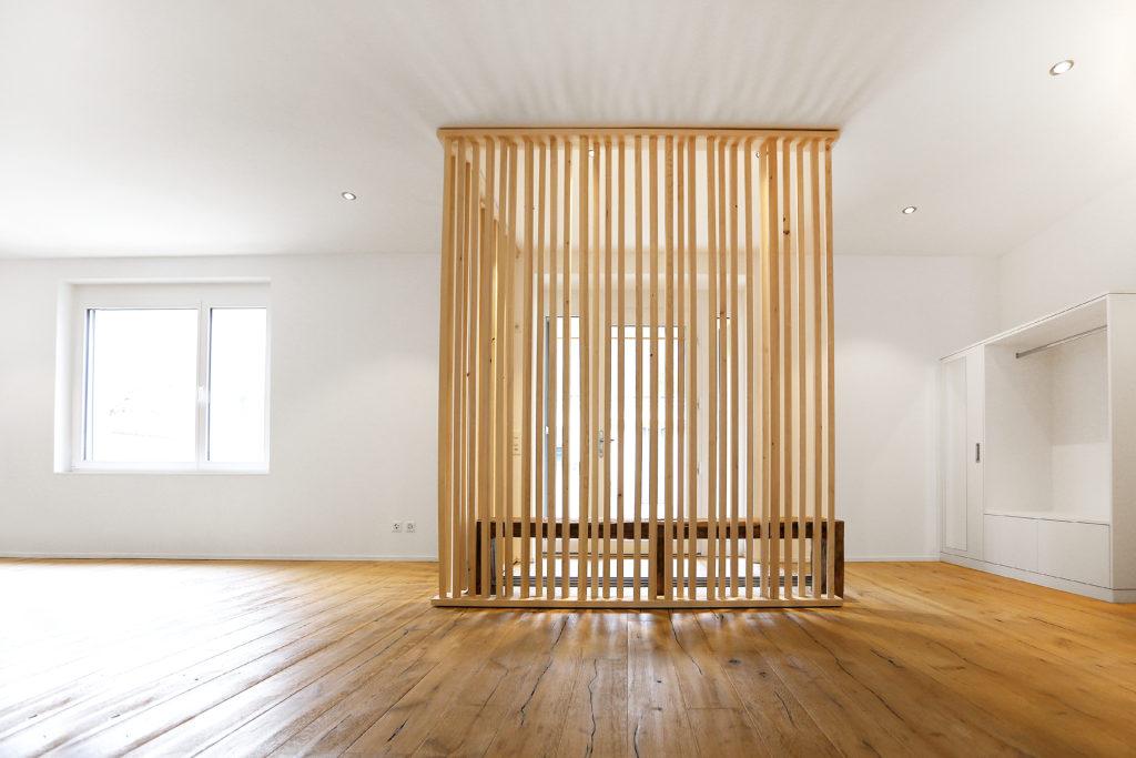 Eingangsbereich Garderobe Sitzbank