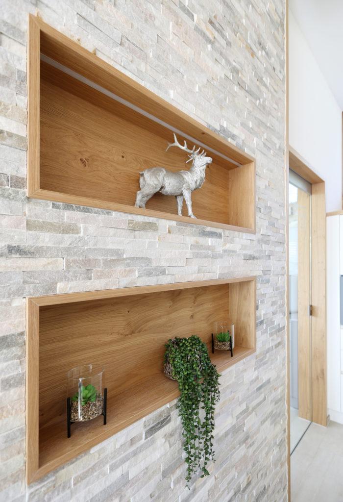 Holznischen Wand