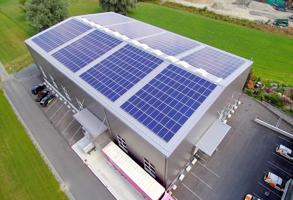 Lagerhalle Photovoltaikanlage