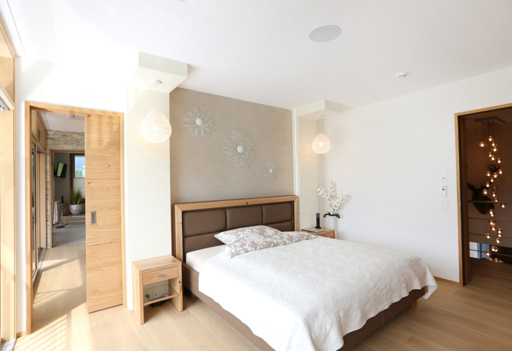 Schlafzimmer Holztuere Parkett Eiche