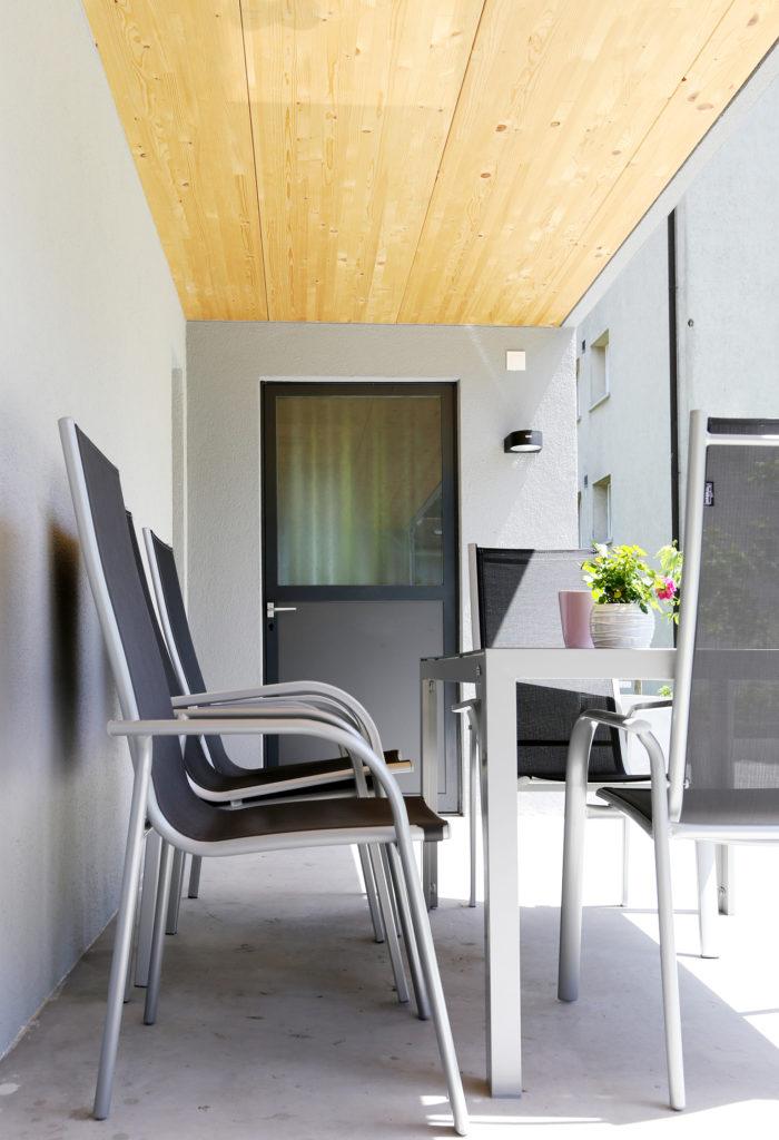 Sitzplatz Holzdecke