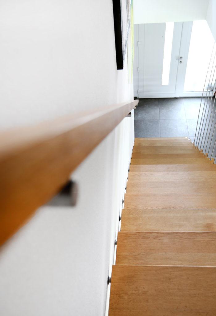 Treppe Freitragend Holz Eiche