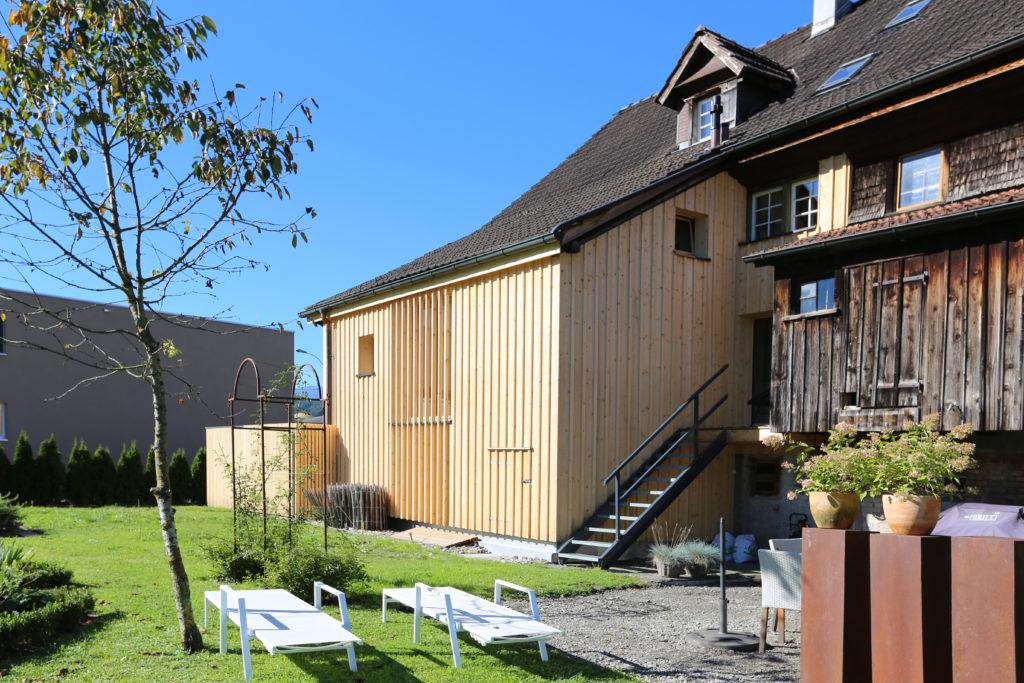 Umbau Einfamilienhaus Aussenansicht