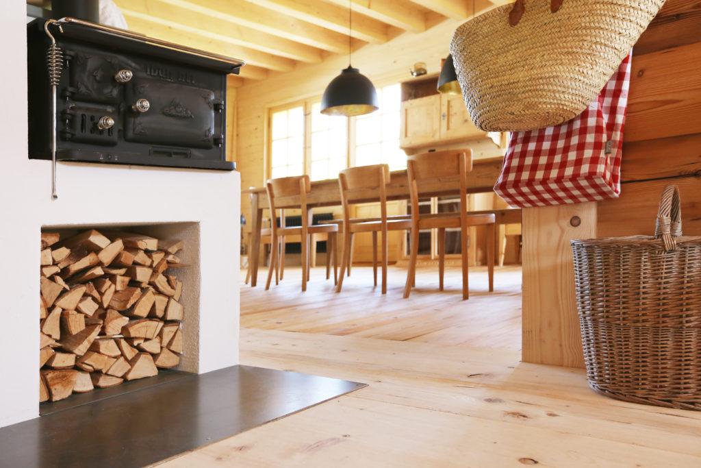 Umbau Esszimmer Holzboden