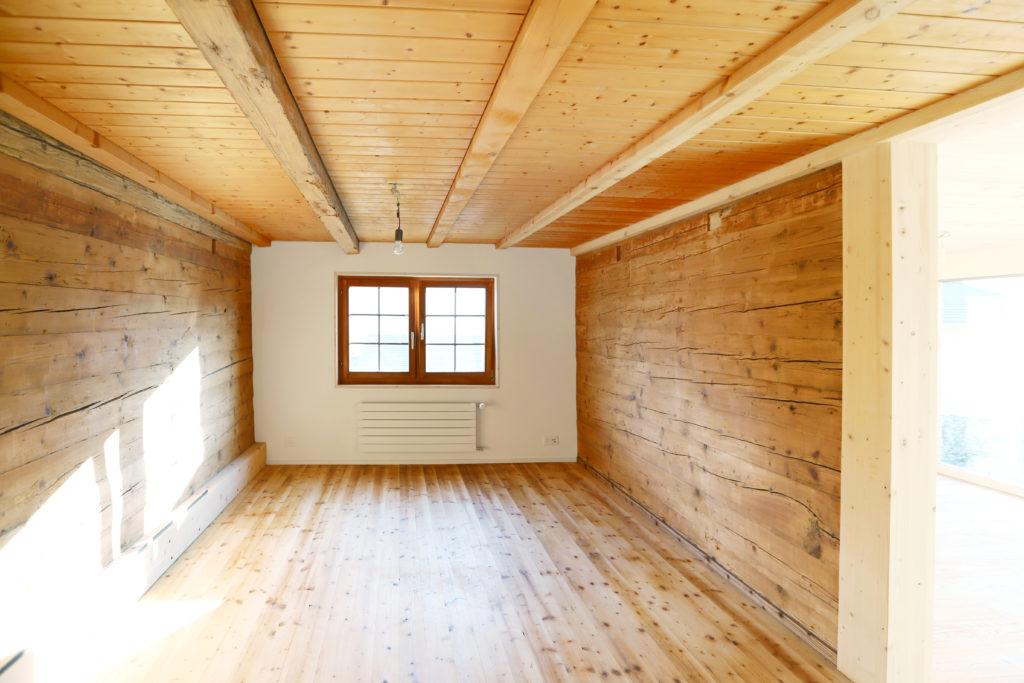Umbau Holzboden Holzdecke