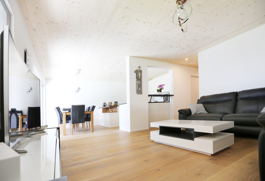 Wohnbereich Holzdecke