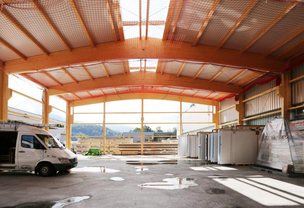 Aktuelle Baustelle Hallenerweiterung Industriebau
