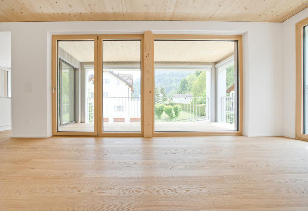 Balkontuere Holz Aluminium