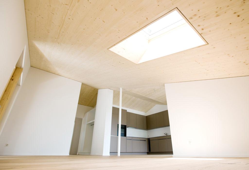 Kueche Holz Aluminium Dachfenster