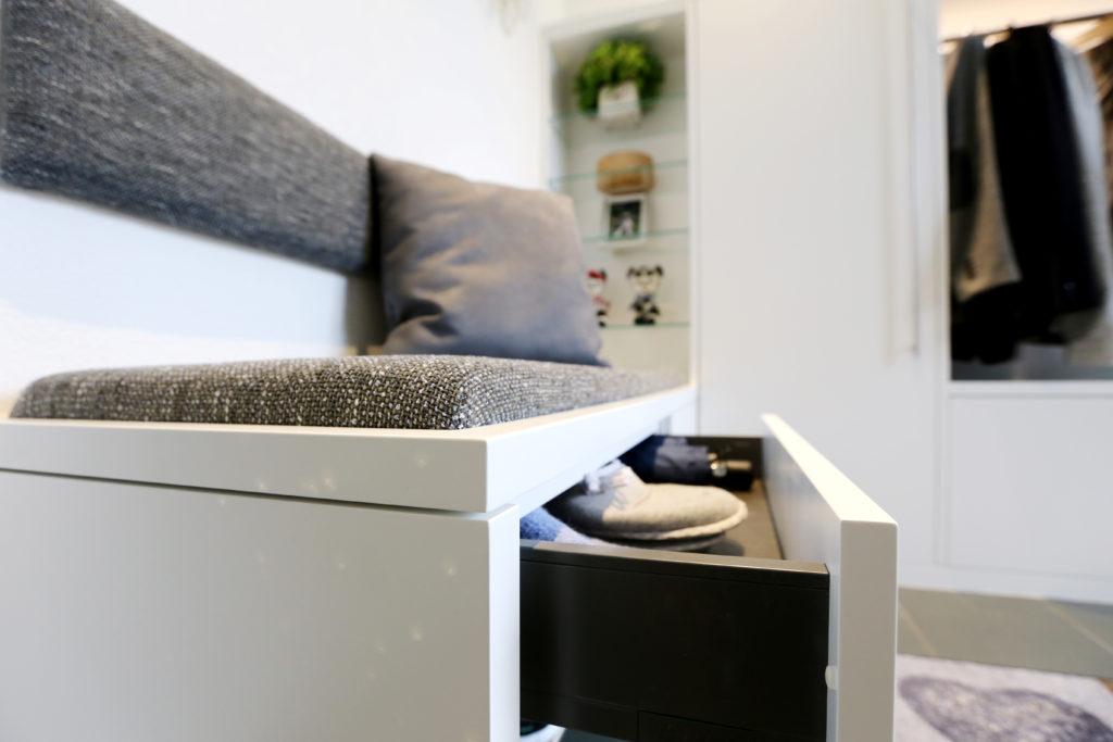 Sitzbank Span Beschichtet Schuhschublade