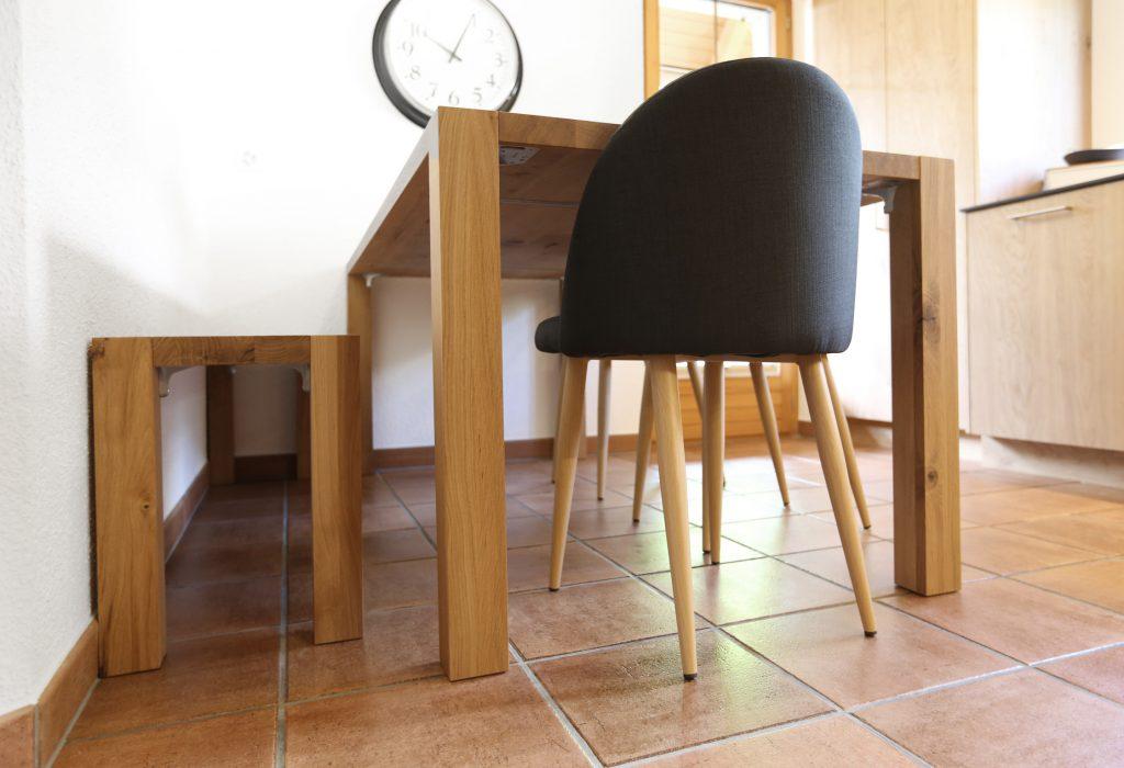 Tisch Sitzbank Buche Massiv Natur Lackiert