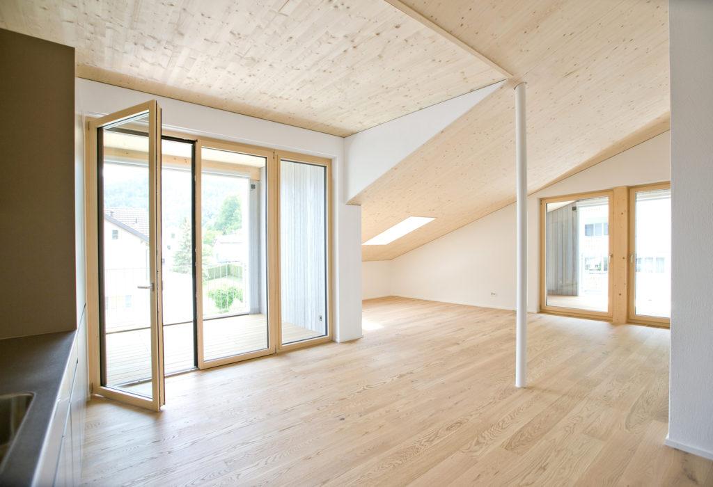 Wohnraum Holzbau Holz Aluminium Fenster