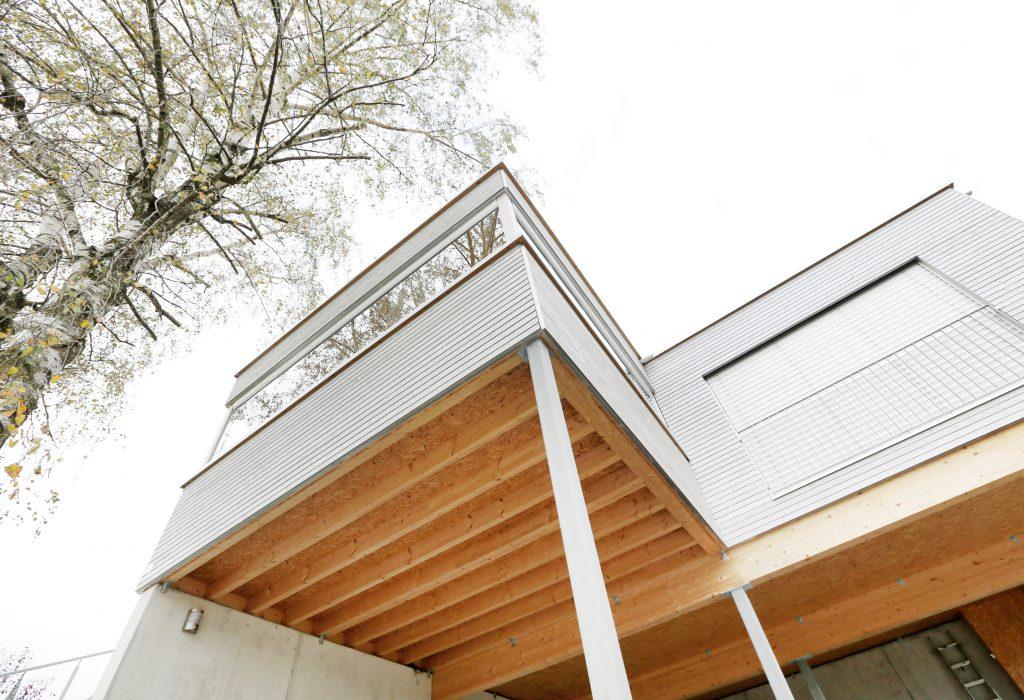 Architektur Holzbau Modulbau Aussenansicht