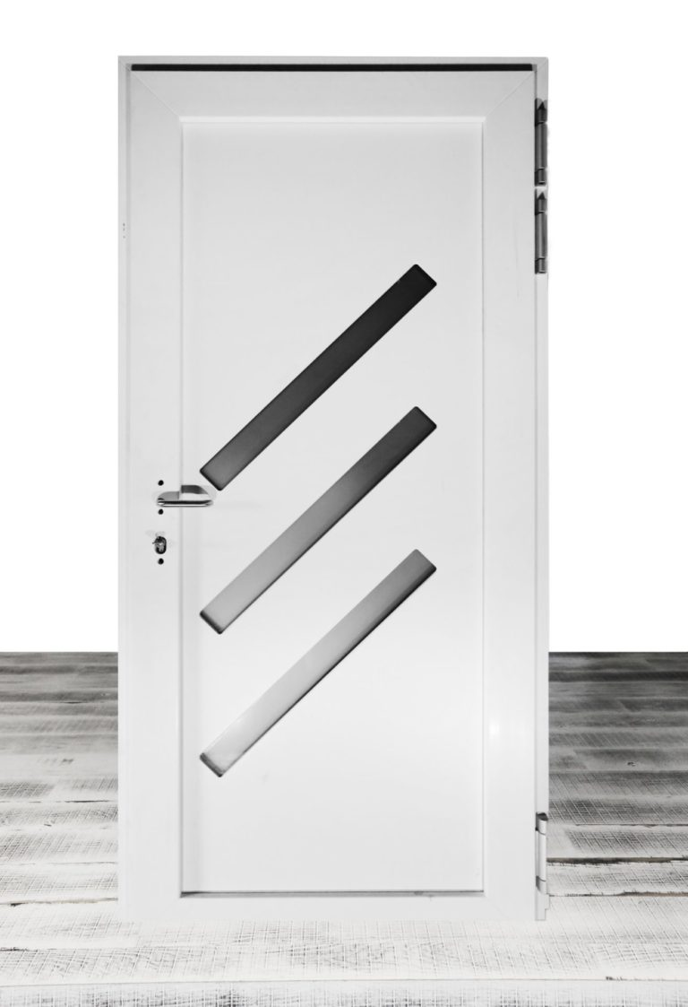 Haustuere Kunststoff Aluminium Weiss