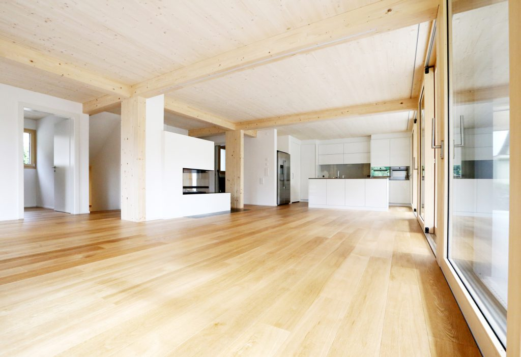 Holzbau Innenausbau Wohnzimmer Kueche