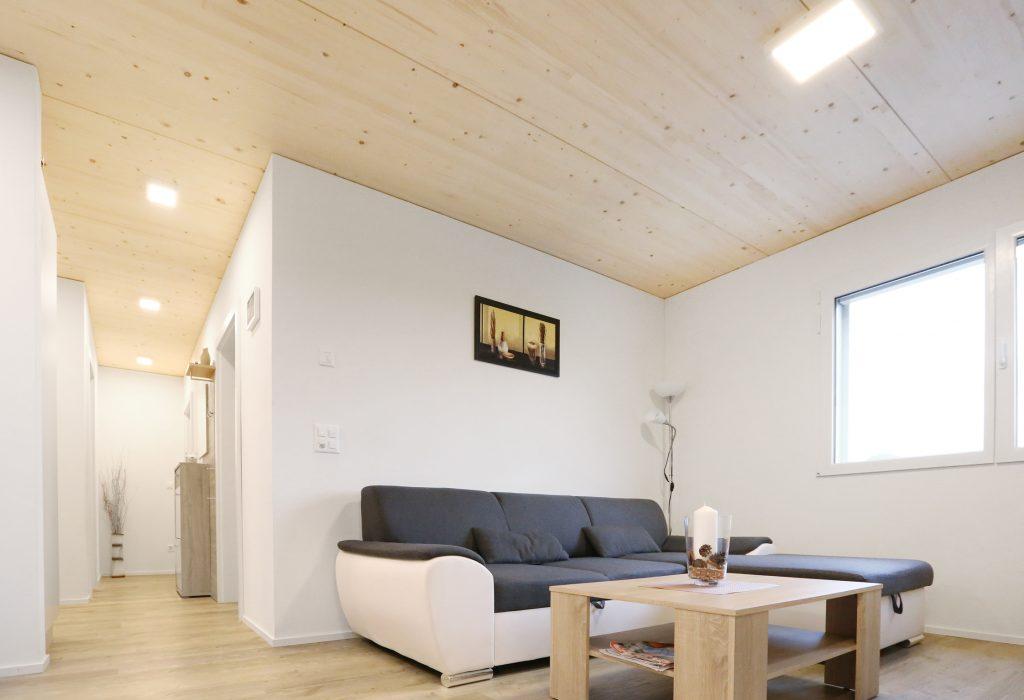 Holzbau Wohnzimmer