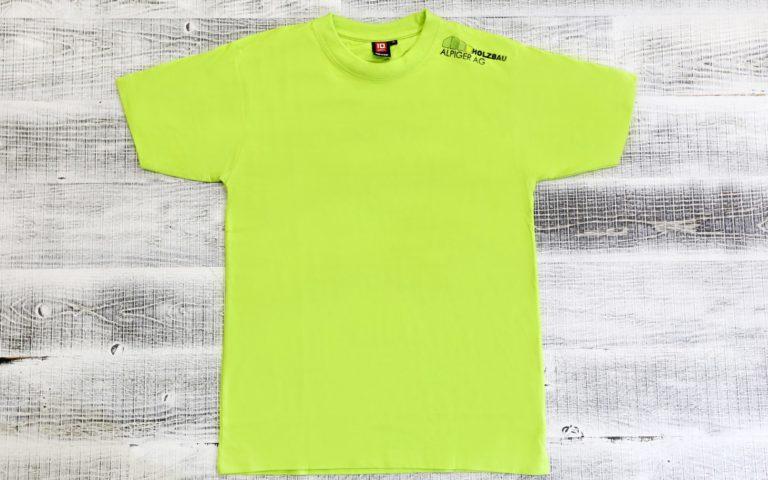 T Shirt Herren Gruen Alpiger Holzbau