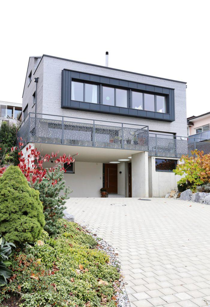 Architektur Neubau Einfamilienhaus Aussenansicht