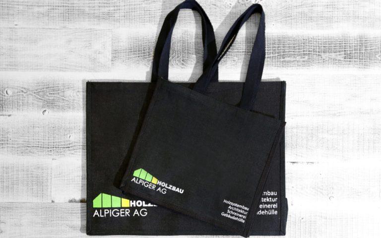 Einkaufstasche Schwarz Alpiger Holzbau