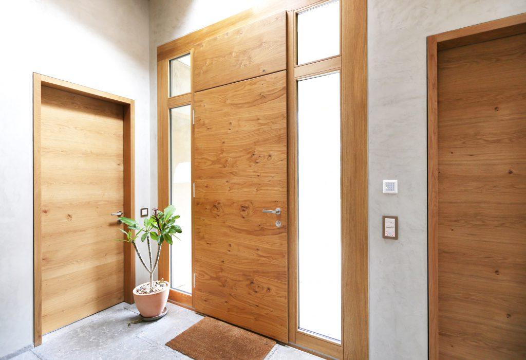 Neubau Efh Holzbau Haustuere Holz Alu Eiche Massiv