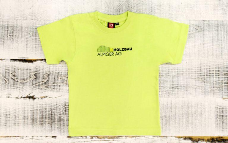 T Shirt Kinder Gruen Alpiger Holzbau
