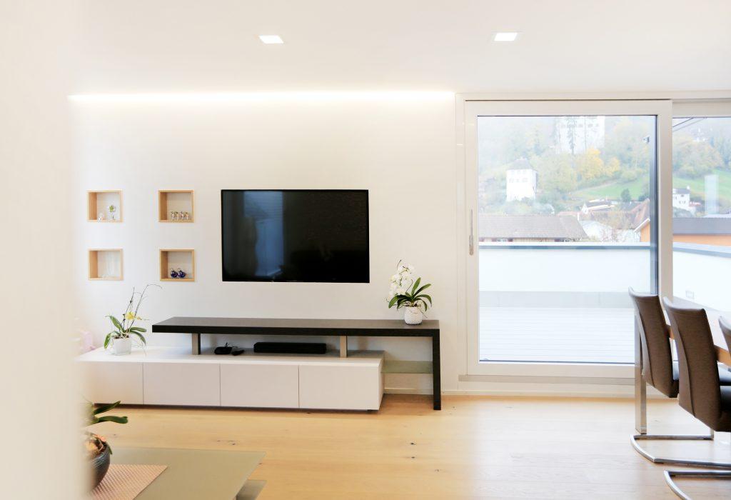 Aufstockung Efh Architektur Holzbau Wohnzimmer