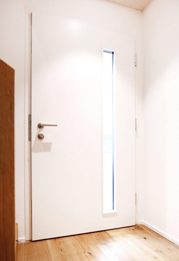 Neubau Einfamilienhaus Haustuere Innenansicht