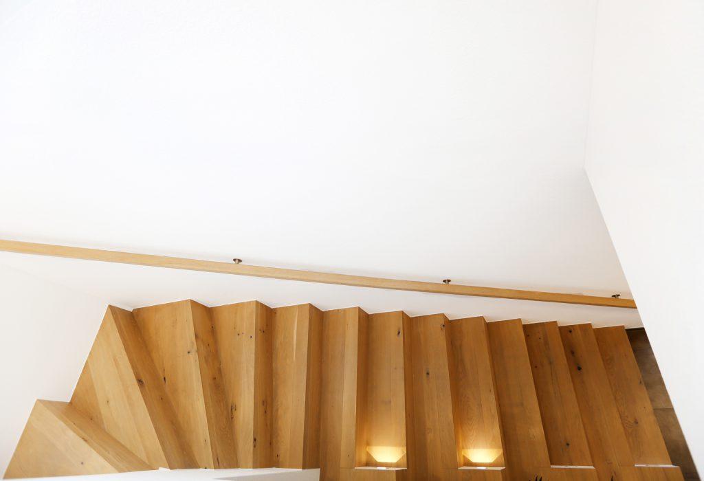 Treppe Holz Freitragend